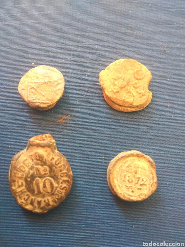 LOTE PRECINTOS MARCHAMOS DE PLOMO (Numismática - Medallería - Temática)