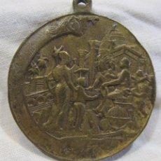 Medallas temáticas: ANTIGUA MEDALLA DEDICADA A CRISTOBAL COLÓN. POSIBLEMENTE OBRA DE JACINT MORATÓ. DIAM. 4 CM. Lote 213541012