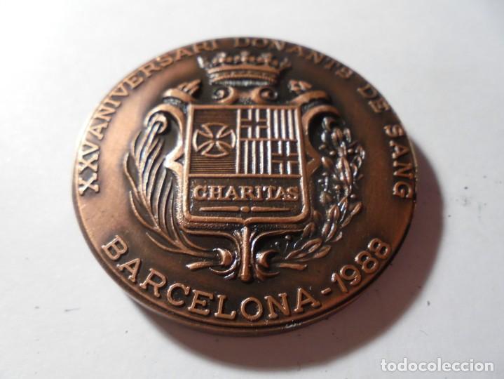 Medallas temáticas: magnifica medalla en relieve XXV aniversari donants de sang barcelona 1988 - Foto 2 - 213654533