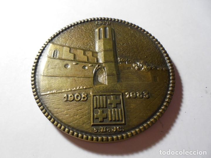 MAGNIFICA MEDALLA EN RELIEVE ROTARY INTERNATIONAL CLUB PEDRALBES BARCELONA 1983 (Numismática - Medallería - Temática)