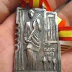 Medallas temáticas: MEDALLA FALANGE DEMOSTRACIÓN SINDICAL 1 MAYO 1967 , EDUCACIÓN Y DESCANSO. Lote 214136782