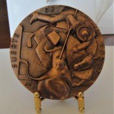 Medallas temáticas: MEDALLA DE COBRE FNMT - SUERTE DE VARAS - SERIE TAUROMAQUIA. Lote 214306837