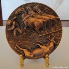 Medallas temáticas: MEDALLA DE COBRE FNMT - MULILLAS - SERIE TAUROMAQUIA. Lote 214308663