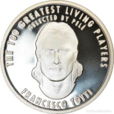 Medallas temáticas: ITALIA, MEDALLA, THE 100 GREATEST LIVING PLAYERS SELECTED BY PELÉ, TOTTI. Lote 214311855
