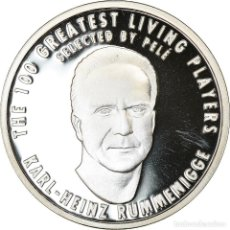 Medallas temáticas: ALEMANIA, MEDALLA, THE 100 GREATEST LIVING PLAYERS SELECTED BY PELÉ, RUMMENIGGE. Lote 214311858