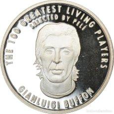 Medallas temáticas: ITALIA, MEDALLA, THE 100 GREATEST LIVING PLAYERS SELECTED BY PELÉ, BUFFON. Lote 214311882