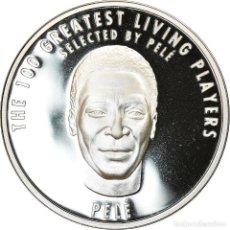 Medallas temáticas: BRASIL, MEDALLA, THE 100 GREATEST LIVING PLAYERS SELECTED BY PELÉ, PELÉ, 2004. Lote 214311983
