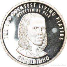 Medallas temáticas: BRASIL, MEDALLA, THE 100 GREATEST LIVING PLAYERS SELECTED BY PELÉ, RONALDINHO. Lote 214312228