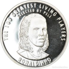 Medallas temáticas: BRASIL, MEDALLA, THE 100 GREATEST LIVING PLAYERS SELECTED BY PELÉ, RONALDINHO. Lote 214318553