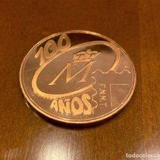 """Medalhas temáticas: MEDALLA COBRE FNMT EXPOSICION FNMT """" 100 AÑOS DE HISTORIA """". Lote 214681562"""