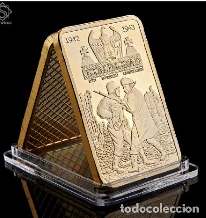 LINGOTE ORO 24KT BATALLA STALINGRADO SEGUNDA GUERRA MUNDIAL 1942 - 1943 - EDICION LIMITADA (Numismática - Medallería - Temática)