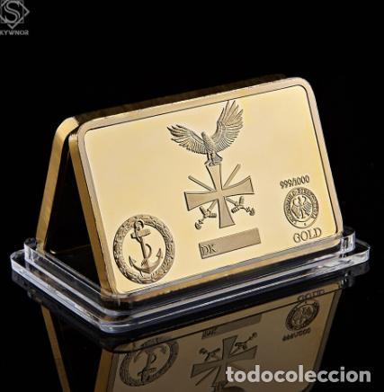 Medallas temáticas: LINGOTE ALEMANIA NAZI - BUQUES DE GUERRA - DEUTSCHE KRIEGMARINE - ORO 24KT - EDICION LIMITADA - Foto 2 - 214808296