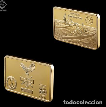 Medallas temáticas: LINGOTE ALEMANIA NAZI - BUQUES DE GUERRA - DEUTSCHE KRIEGMARINE - ORO 24KT - EDICION LIMITADA - Foto 3 - 214808296