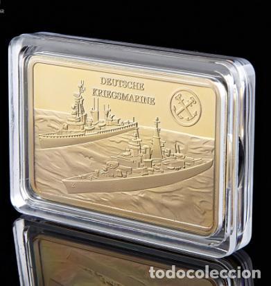 Medallas temáticas: LINGOTE ALEMANIA NAZI - BUQUES DE GUERRA - DEUTSCHE KRIEGMARINE - ORO 24KT - EDICION LIMITADA - Foto 5 - 214808296