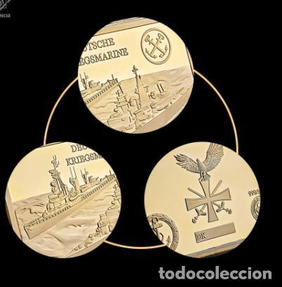 Medallas temáticas: LINGOTE ALEMANIA NAZI - BUQUES DE GUERRA - DEUTSCHE KRIEGMARINE - ORO 24KT - EDICION LIMITADA - Foto 6 - 214808296