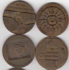 Medallas temáticas: 6 MEDALLAS: TELEFONICA 1971-1972-1973-1974-1975-1976. Lote 215585457