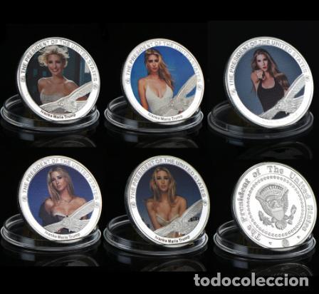 Medallas temáticas: COLECCION 5 MONEDAS IVANKA MARIE TRUMP - HIJA PRESIDENTE ESTADOS UNIDOS - PLATA - Foto 2 - 216413210