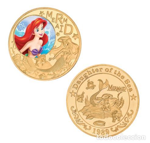 Medallas temáticas: COLECCION 5 MONEDAS LA SIRENITA - 1989 - ORO 24KT - Foto 3 - 216413932