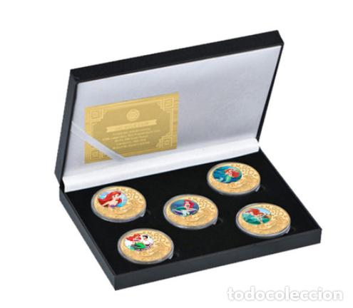 Medallas temáticas: COLECCION 5 MONEDAS LA SIRENITA - 1989 - ORO 24KT - Foto 5 - 216413932
