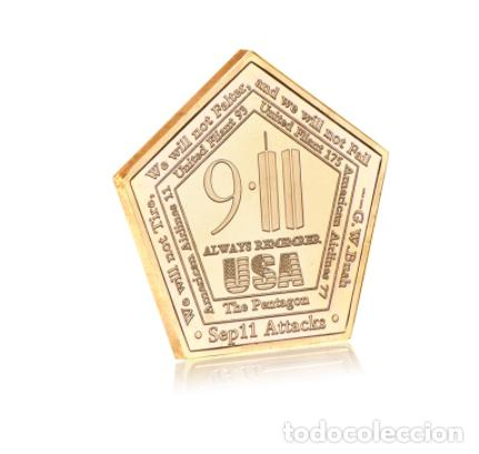 Medallas temáticas: MONEDA ESPECIAL ATENTADO TORRES GEMELAS 11S - COLECCION - ORO 24KT - Foto 2 - 216414770