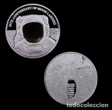 MONEDA PLATA MISION ATERRIZAJE LUNAR 50 ANIVERSARIO - NASA - 1969 (Numismática - Medallería - Temática)