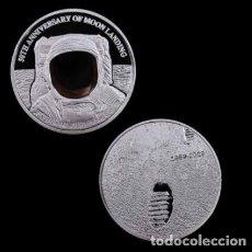 Medallas temáticas: MONEDA PLATA MISION ATERRIZAJE LUNAR 50 ANIVERSARIO - NASA - 1969. Lote 216485257