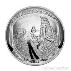 Medallas temáticas: MONEDA PLATA MISION ATERRIZAJE LUNAR 50 ANIVERSARIO - NASA - ESTADOS UNIDOS DE AMERICA. Lote 216485851