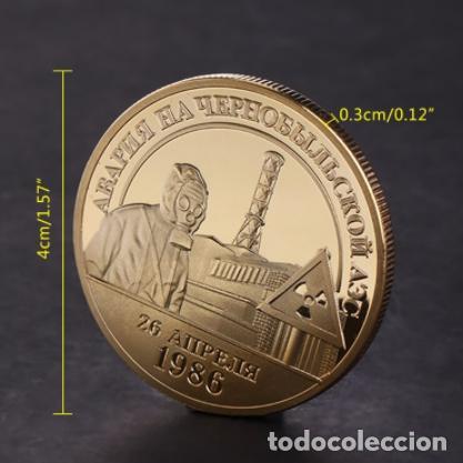 Medallas temáticas: MONEDA CONMEMORATIVA ACCIDENTE NUCLEAR CHERNOBIL - ORO 24KT - 1986 - 1996 - Foto 3 - 216487331