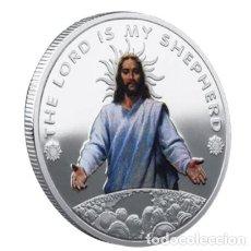 Medallas temáticas: MONEDA CONMEMORATIVA JESUS - EL SEÑOR ES MI PASTOR - PLATA. Lote 216490608