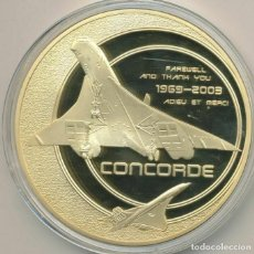Medallas temáticas: INTERESANTE MEDALLON XXL CONMEMORATIVO AL ADIOS DEL AVION SUPERSONICO CONCORDE. Lote 216510236