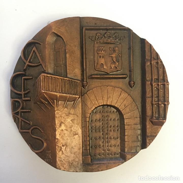 MEDALLA (MEDALLÓN), BRONCE, CÁCERES - FNMT, 1978 (Numismática - Medallería - Temática)
