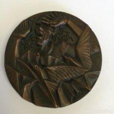 """Medallas temáticas: MEDALLA (MEDALLÓN )BRONCE - """"QUE NO DORMÍA"""" - AUTOR: SOMOZA - AÑO 1969. Lote 217203566"""