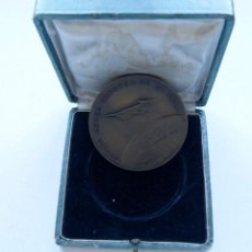 Medallas temáticas: MEDALLA VUELTA AEREA EUROPEA DE LA FAI 1963 RACE CON SU CAJA. Lote 217255386