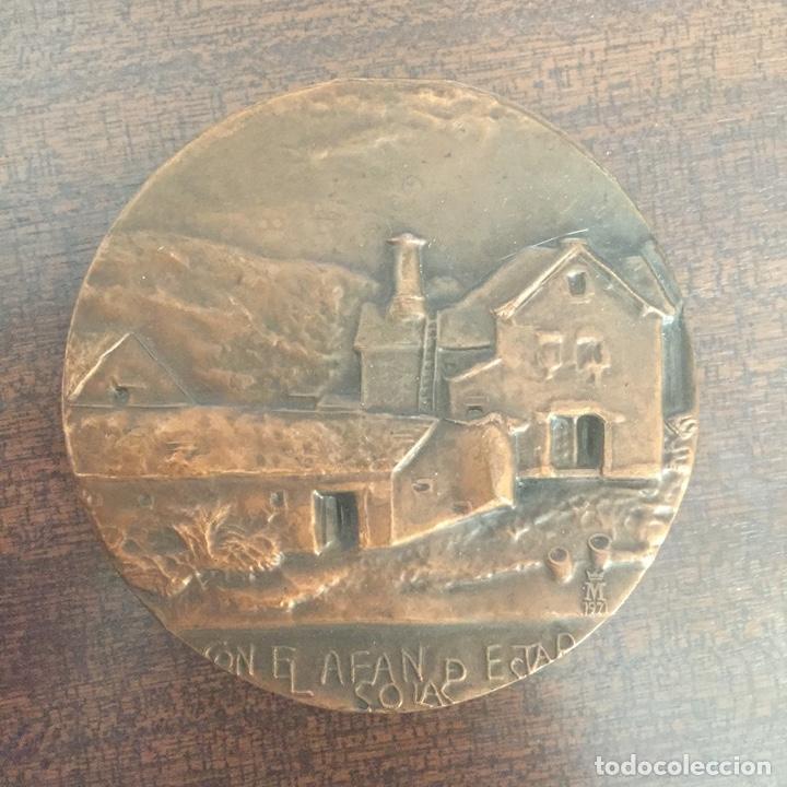 MEDALLA BRONCE (MEDALLÓN) VALLE DE ARAN - CASA DE MONEDA FNMT 1971 (Numismática - Medallería - Temática)