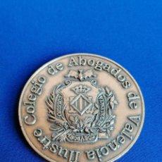 Medalhas temáticas: MEDALLA COLEGIO DE ABOGADOS DE VALENCIA. Lote 217714570