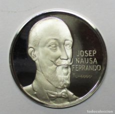 Medallas temáticas: MEDALLA DE PLATA DE JOSEP NAUSA FERRANDO, FUNDADOR DE AGRUPACIO MUTUA. LOTE 0137. Lote 217823291
