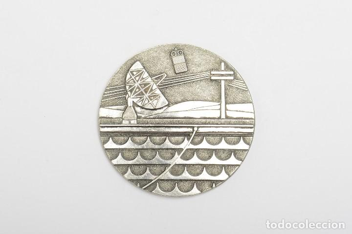 MEDALLA PLACA CONMEMORATIVA DE TELEFONIA, COMUNICACIONES (Numismática - Medallería - Temática)