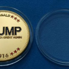 Medallas temáticas: TRUMP 2016 HACER QUE AMÉRICA SEA GRANDE DE NUEVO. Lote 218456986