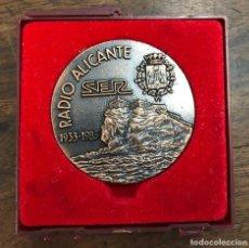 Medalhas temáticas: MEDALLA RADIO ALICANTE SER 1933-1983. BRONCE. Lote 218574867