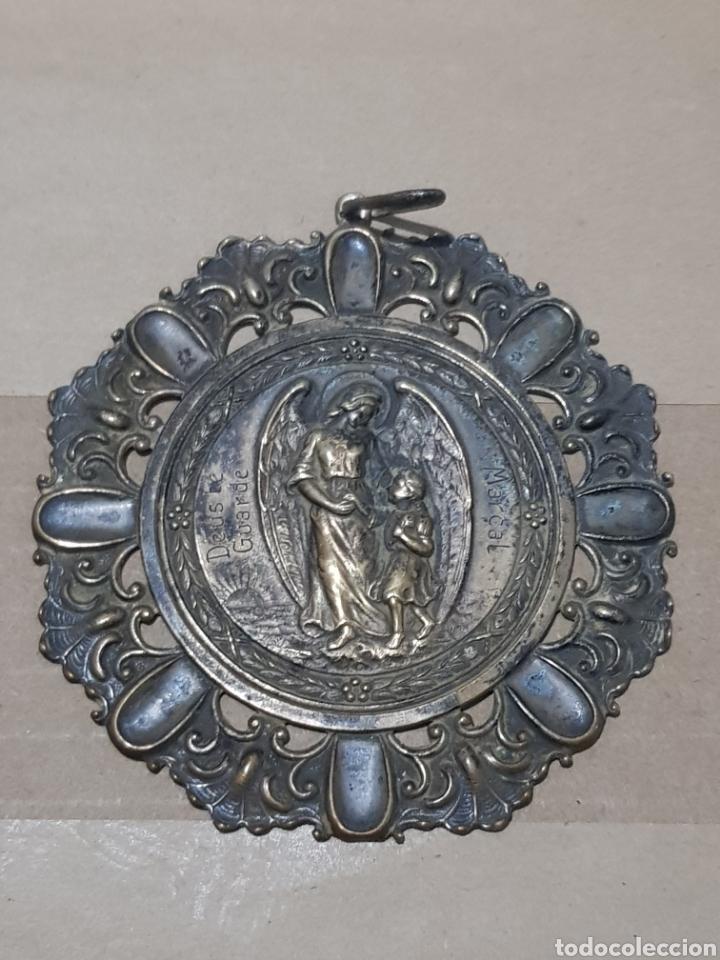 MEDALLA DE CUNA ANTIGUA PLATA 8 CENTÍMETROS DE DIÁMETRO PESA 20 GRAMOS (Numismática - Medallería - Temática)