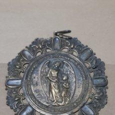 Medallas temáticas: MEDALLA DE CUNA ANTIGUA PLATA 8 CENTÍMETROS DE DIÁMETRO PESA 20 GRAMOS. Lote 219094471