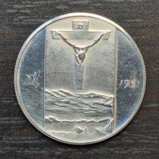 Medallas temáticas: MEDALLA DE PLATA SALVADOR DALÍ 1904 1951 CRISTO DE LA CRUZ - SURREALISMO PINTURA MONEDA. Lote 219290523