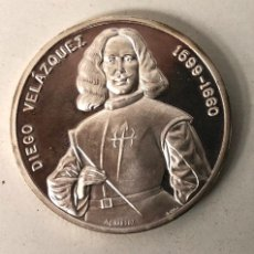 Medalhas temáticas: MEDALLA DIEGO VELAZQUEZ LAS HILANDERAS. PLATA 999. Lote 221253406