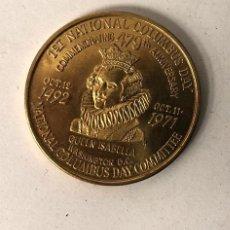 Medalhas temáticas: MEDALLA 1ST NATIONAL COLUMBUS DAY. DESCUBRIMIENTO DE AMERICA. 1971. WASHINGTON COMITTEE. Lote 221253988