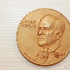 Medalhas temáticas: MEDALLA CHARLIE RIBEL, JOSEP ANDREU, CALICÓ, 5 CM. Lote 221556741