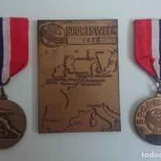 Medallas temáticas: LOTE MEDALLAS DEPORTIVAS SPORTSWEEK 1976. Lote 221785235