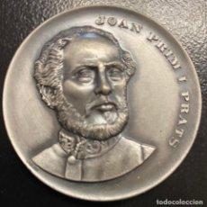 Medallas temáticas: CATALUNYA, MEDALLA EN METAL PLATEADO JOAN PRIM I PRATS. Lote 221870642