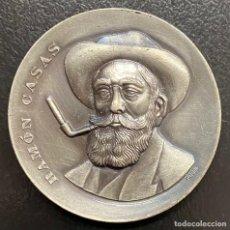 Medallas temáticas: CATALUNYA, MEDALLA DE METAL PLATEADO RAMÓN CASAS. Lote 221892613