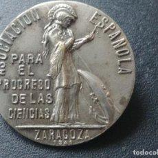 Medallas temáticas: MEDALLA - INSIGNIA: 1940 ZARAGOZA. ASOCIACION ESPAÑOLA PARA EL PROGRESO DE LAS CIENCIAS. Lote 221925891