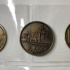 Medallas temáticas: LOTE 5 MONEDAS CONMEMORATIVAS EXPO 92 DE SEVILLA. Lote 221945215